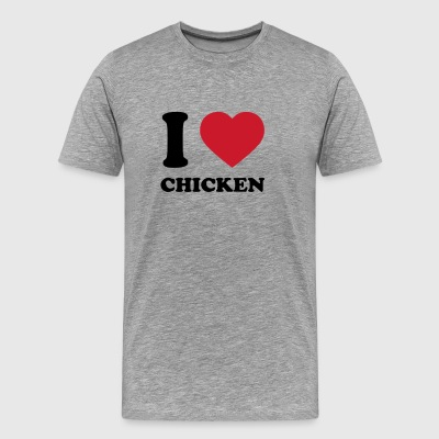 I Love Chicken T Shirt - Men's Premium T-Shirt