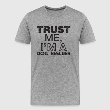 dog rescuer - Men's Premium T-Shirt
