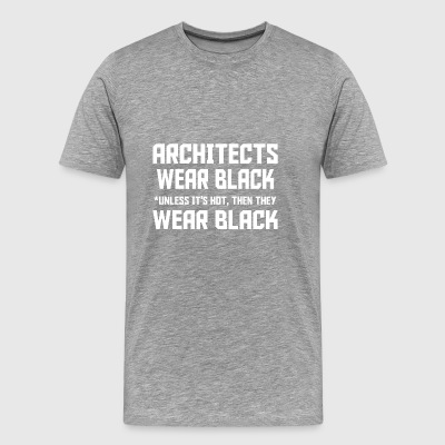 architect wear black - Men's Premium T-Shirt
