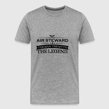 Mann mythos legende geschenk AIR STEWARD - Men's Premium T-Shirt