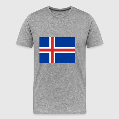 Iceland country flag love my land patriot - Men's Premium T-Shirt