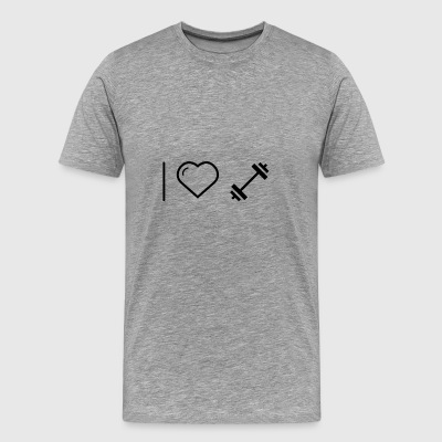 I heart dumbbell - Men's Premium T-Shirt