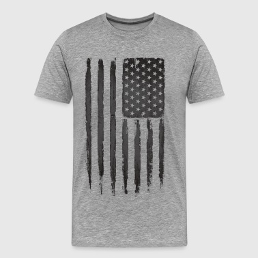 American flag Black - Men's Premium T-Shirt