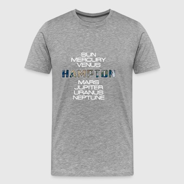 Solar System Planet Earth Hampton Gift - Men's Premium T-Shirt