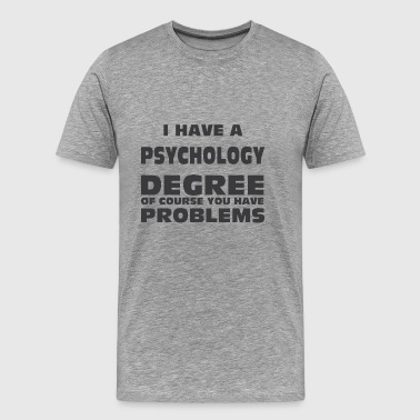 PSYCHOLOGY DEGREE - Men's Premium T-Shirt