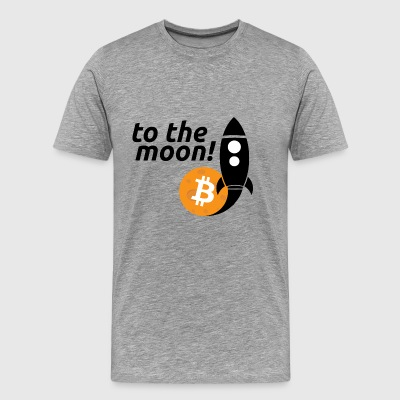 bitcoin to the moon - Men's Premium T-Shirt