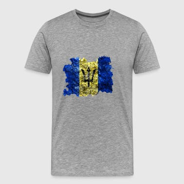 Barbados Vintage Flag - Men's Premium T-Shirt