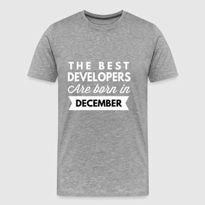 The best Developers are born in December - Men's Premium T-Shirt