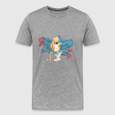 Graffiti Girl - Men's Premium T-Shirt