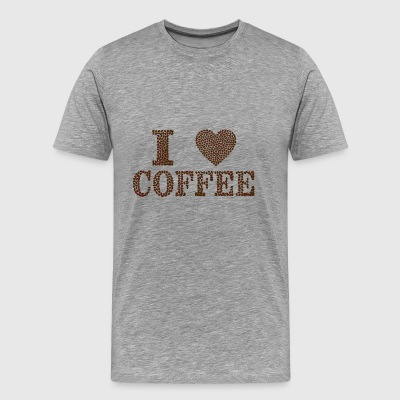 I Love Coffe - Men's Premium T-Shirt