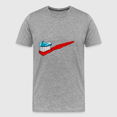Toothbrush Teeth Brush Brushing Clean Cleaning - Men's Premium T-Shirt