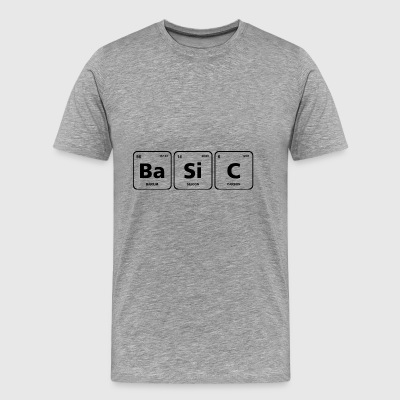 basic periodic table element geek nerd chemistry - Men's Premium T-Shirt