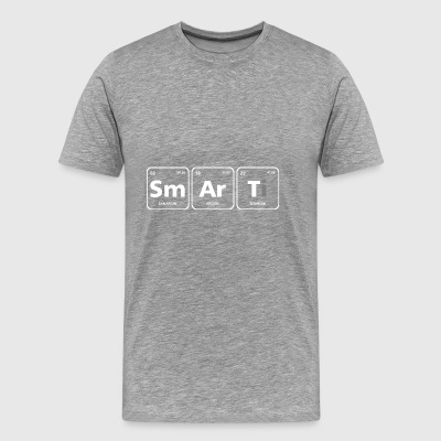 smart periodic table element geek nerd chemistry - Men's Premium T-Shirt