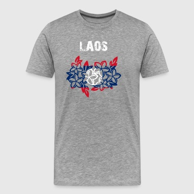 Nation-Design Laos Plumeria - Men's Premium T-Shirt