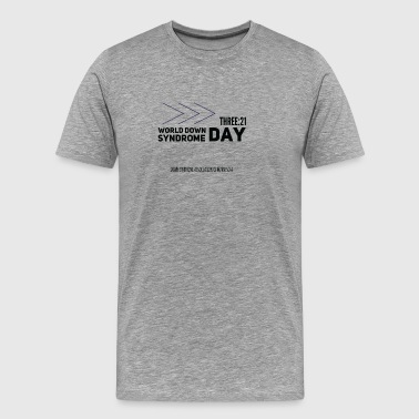 World Down Syndrome Day with Arrows - Men's Premium T-Shirt