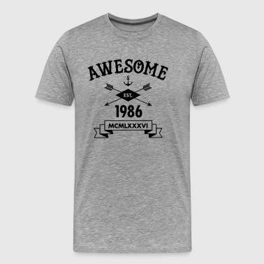 Awesome Est. 1986 - Men's Premium T-Shirt