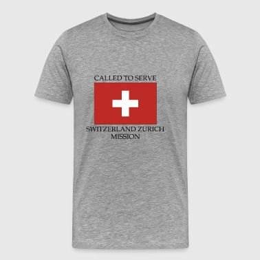 Switzerland Zurich LDS Mission Called to Serve - Men's Premium T-Shirt