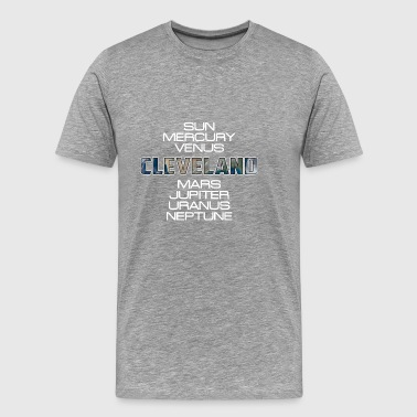 Solar System Planet Earth Cleveland Gift - Men's Premium T-Shirt