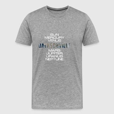 Solar System Planet Earth Jacksonville Gift - Men's Premium T-Shirt