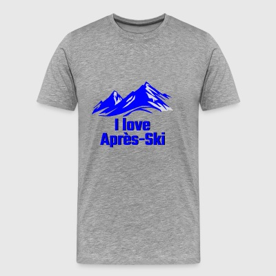 GIFT - I LOVE APRES SKI BLUE - Men's Premium T-Shirt