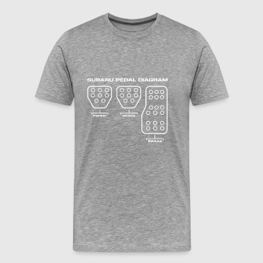 Subaru Pedal Diagram - Men's Premium T-Shirt