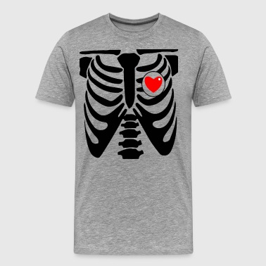 xray heart - Men's Premium T-Shirt