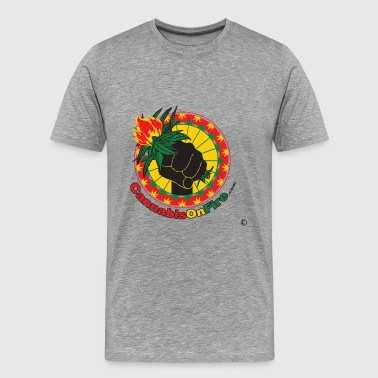 Cannabis On Fire 420 Power - Men's Premium T-Shirt