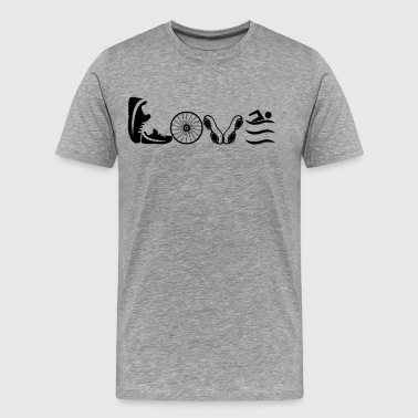 Triathlon Love Shirt - Men's Premium T-Shirt