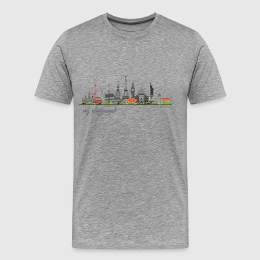 WORLD - MY PLAYGROUND - Carolyn Sandstrom - Men's Premium T-Shirt