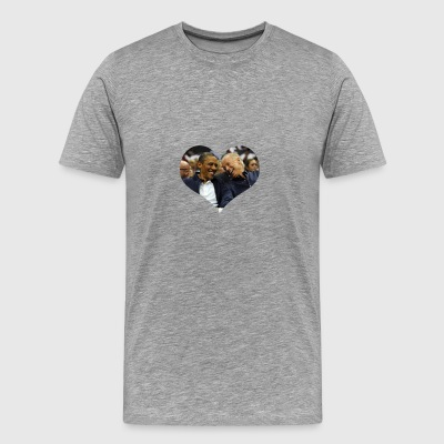 Obama and Biden Laughing - Men's Premium T-Shirt