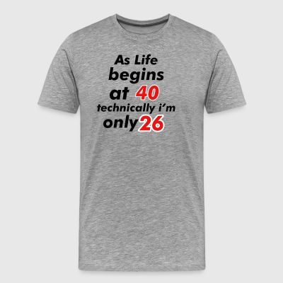 26 birthday design - Men's Premium T-Shirt