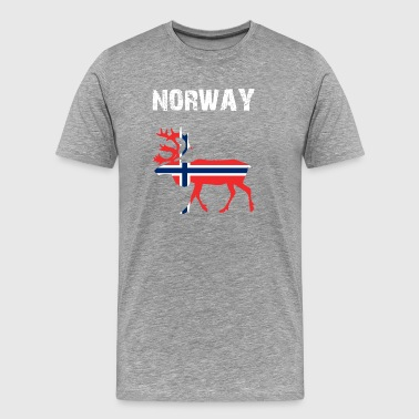 Nation-Design Norway Reindeer jmkLs - Men's Premium T-Shirt
