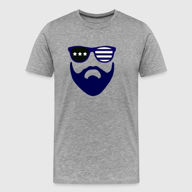 Blue beard-beard gang - Men's Premium T-Shirt
