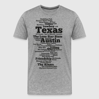 Texas (US state, The Lone Star State) - Men's Premium T-Shirt