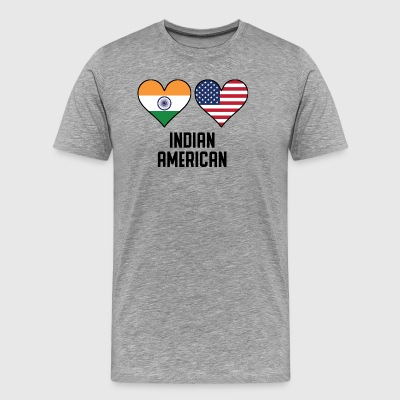 Indian American Heart Flags - Men's Premium T-Shirt