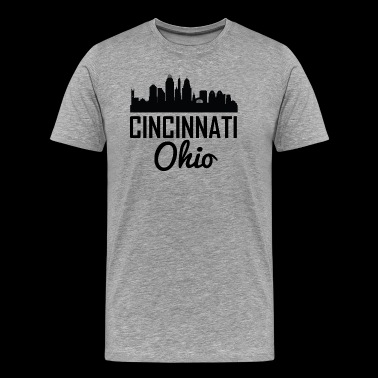 Cincinnati Ohio Skyline - Men's Premium T-Shirt