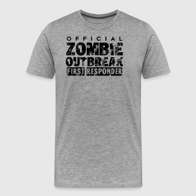 Zombie outbreak first responder - Men's Premium T-Shirt