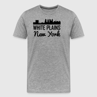 White Plains New York Skyline - Men's Premium T-Shirt