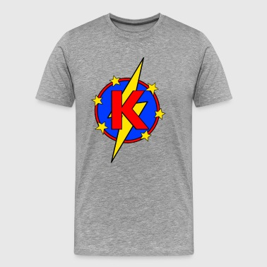 My Little Super Hero Kids & Baby Letter K - Men's Premium T-Shirt