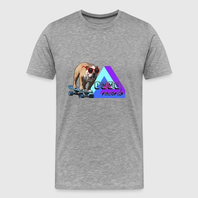 Skateboarding Dog Tee - JMMS Records - Men's Premium T-Shirt
