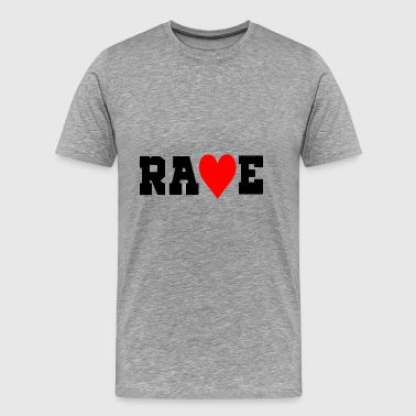 rave love heart - Men's Premium T-Shirt