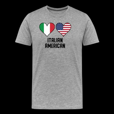 Italian American Heart Flags - Men's Premium T-Shirt