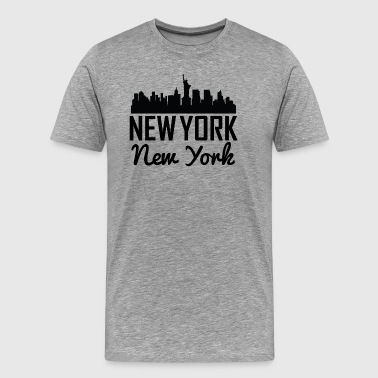 New York City Skyline - Men's Premium T-Shirt