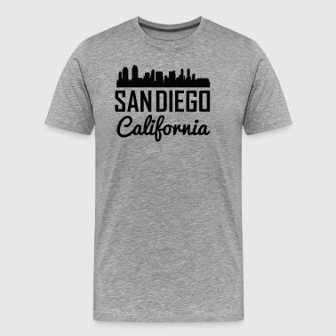 San Diego California Skyline - Men's Premium T-Shirt