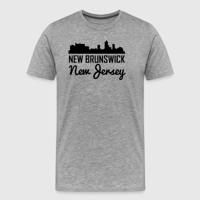 New Brunswick New Jersey Skyline - Men's Premium T-Shirt