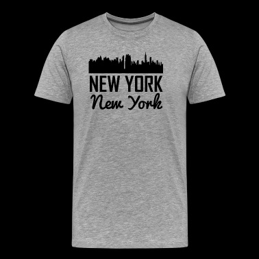 New York New York Skyline - Men's Premium T-Shirt
