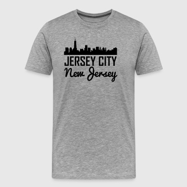 Jersey City New Jersey Skyline - Men's Premium T-Shirt