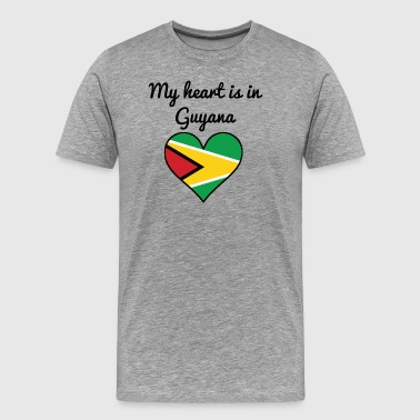 My Heart Is In Guyana - Men's Premium T-Shirt