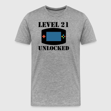 Level 21 Unlocked Video Games 21st Birthday - Men's Premium T-Shirt