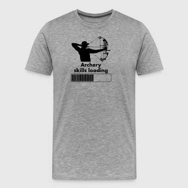 Archery Skills Loading - Men's Premium T-Shirt